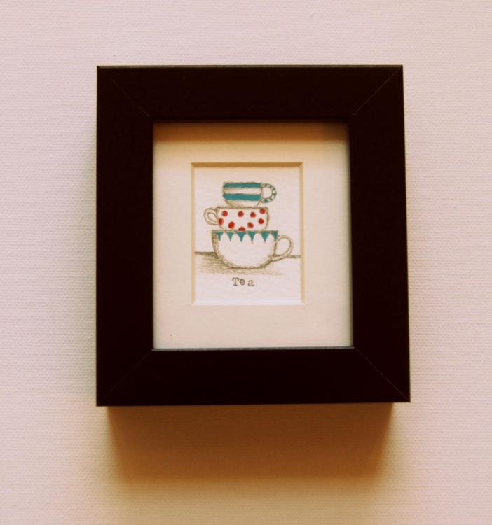 Framed Tea for Three (miniature).. - Image 0
