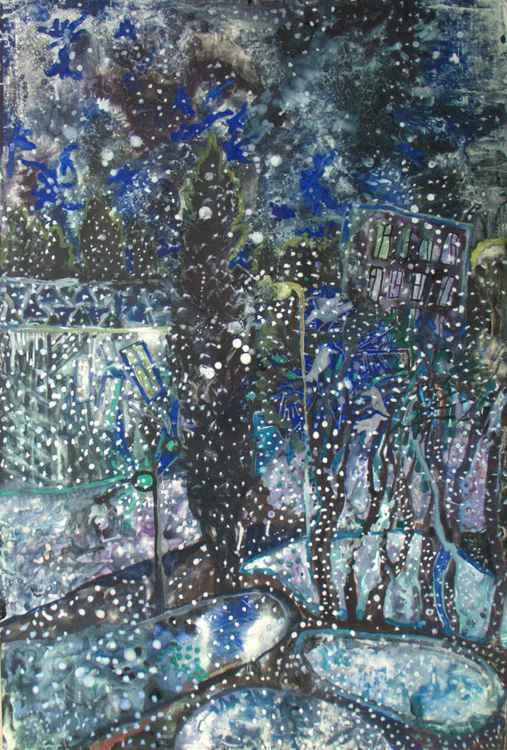 Snowy night -