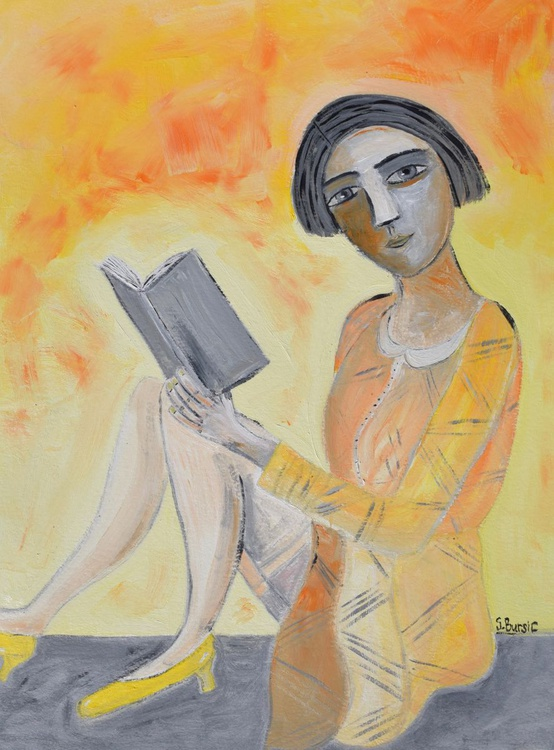 Woman Reading - Image 0