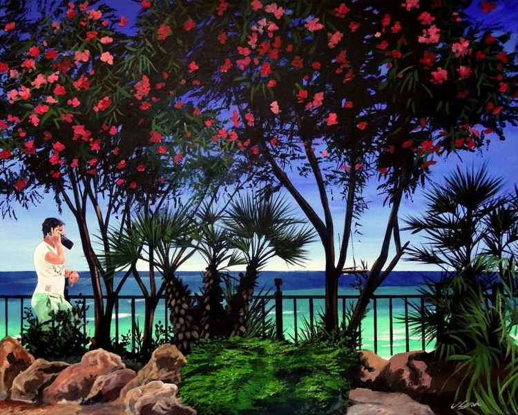Oleander By The Beach -