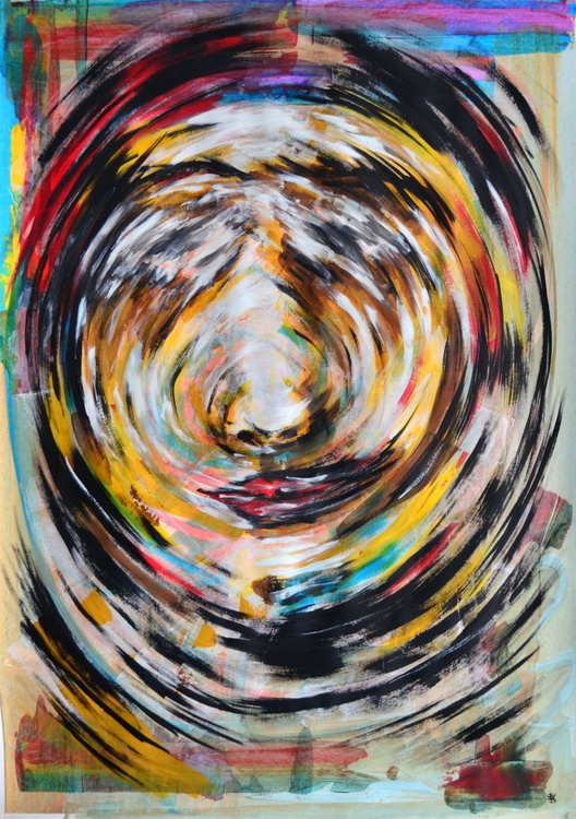 Move - Abstract Art Painting On A1 Big Size Paper - Image 0
