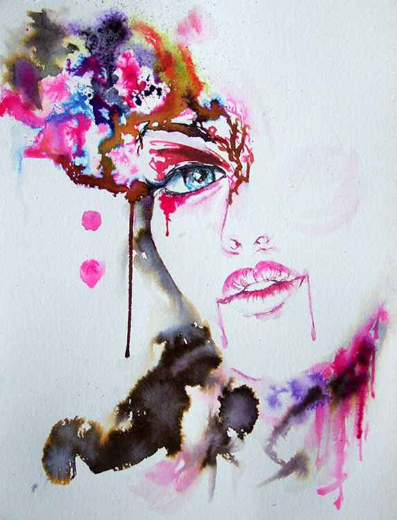 Venetian Mask  / Watercolour -