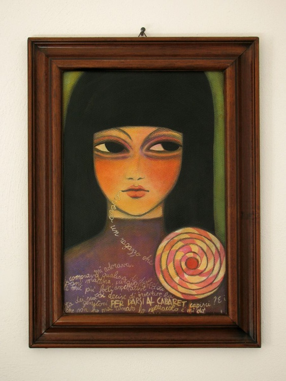 Hallucinated girl with lollipop - Image 0