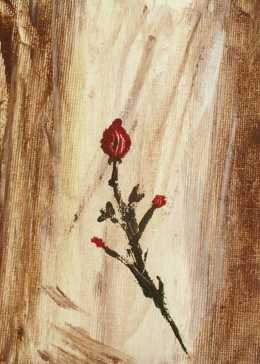 Red rose1. Palette knife - Image 0
