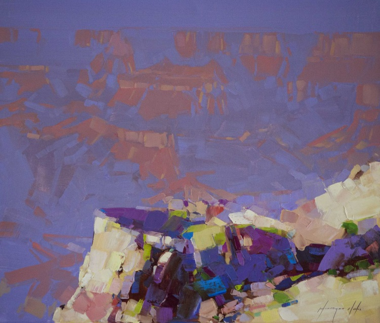 Grand Canyon Contemporary Original oil painting on Canvas - Image 0