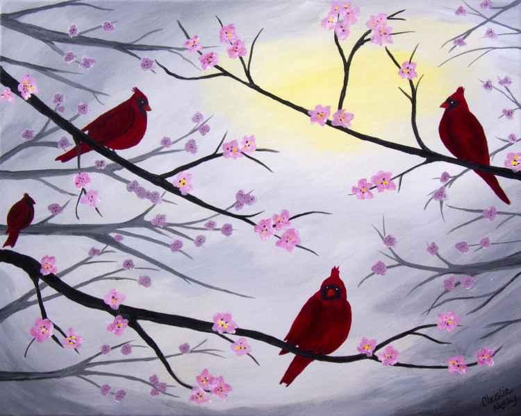 Cardinal Blossoms -