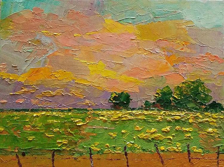 Morning Mustards, sunrise Landscape - Image 0