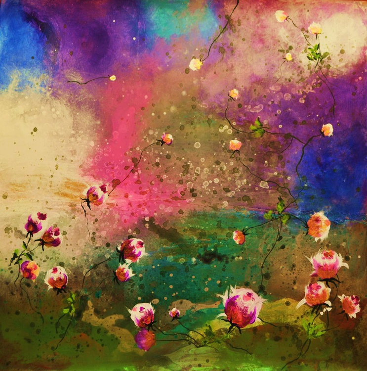 """Floral abstract """" Lush in paradise"""" - Image 0"""