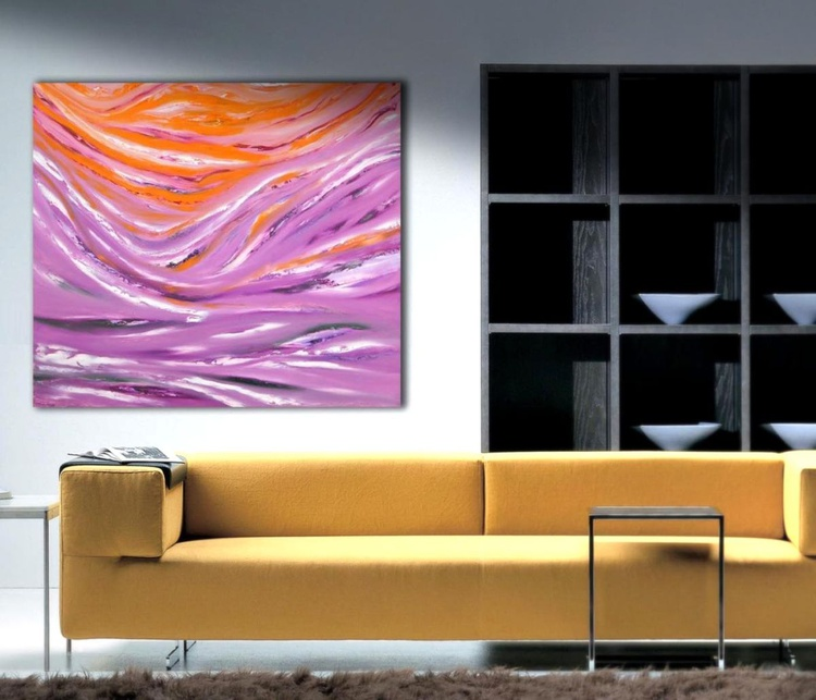Agorà - 80x70 cm, Original abstract painting, oil on canvas - Image 0