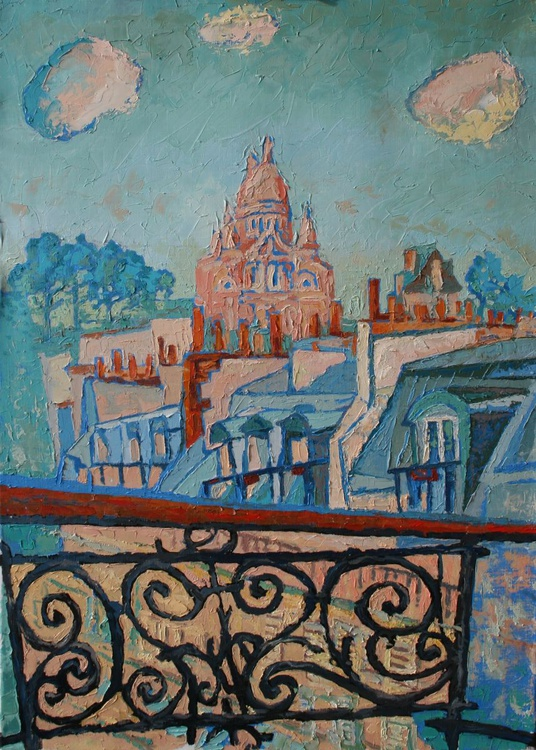 Paris, balcony. - Image 0