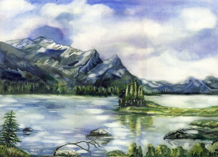 Spirit island-Jasper national Park, Canada - Image 0