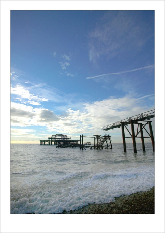 The Old West Pier, Wide View, Brighton, Sussex - Image 0