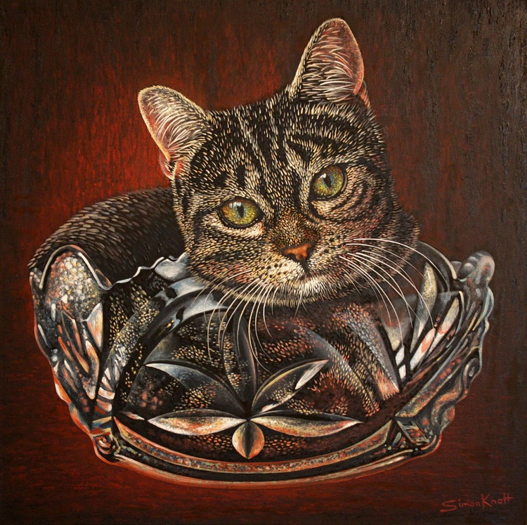 Gigi in a cut glass bowl - Image 0