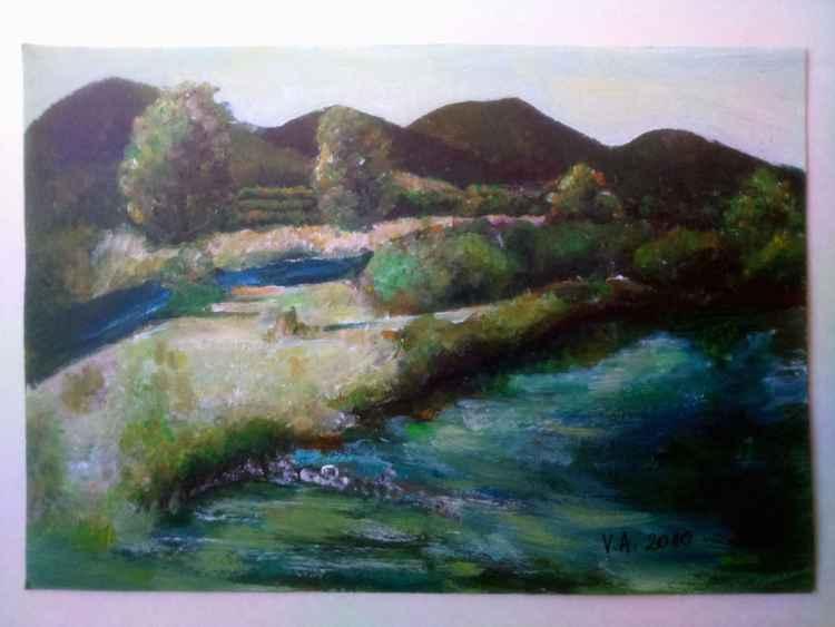 Acrylic landscape art