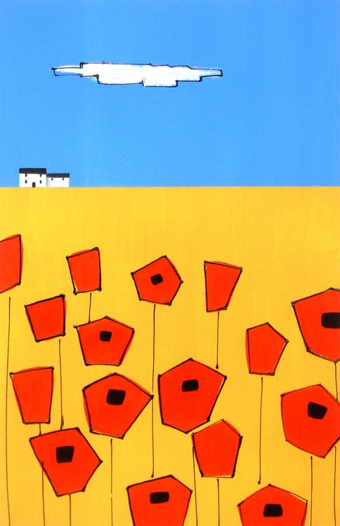 Wheatfield and Poppies - Image 0