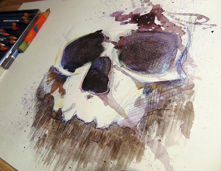 sketch skull - Image 0