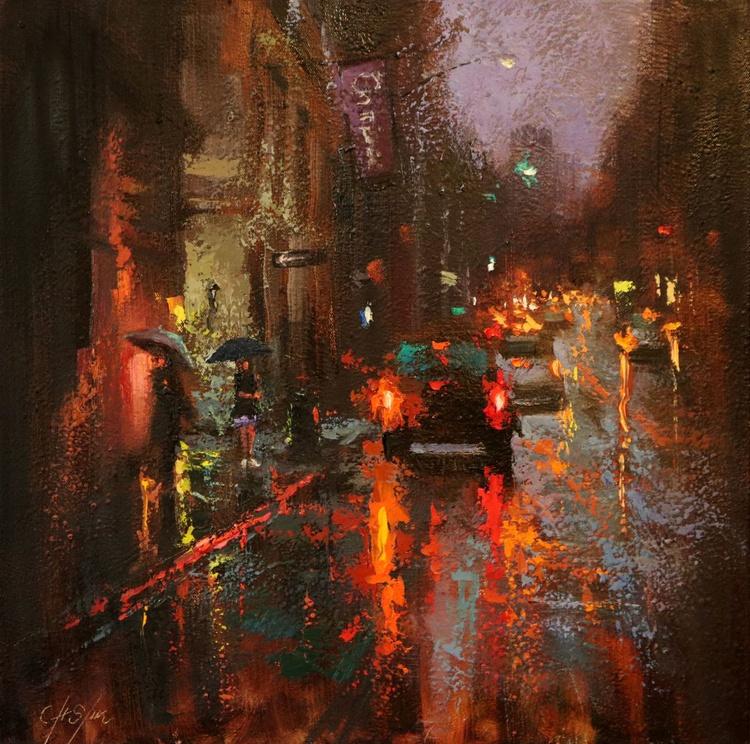 A Corner of Greenwich Village in Rain - Image 0