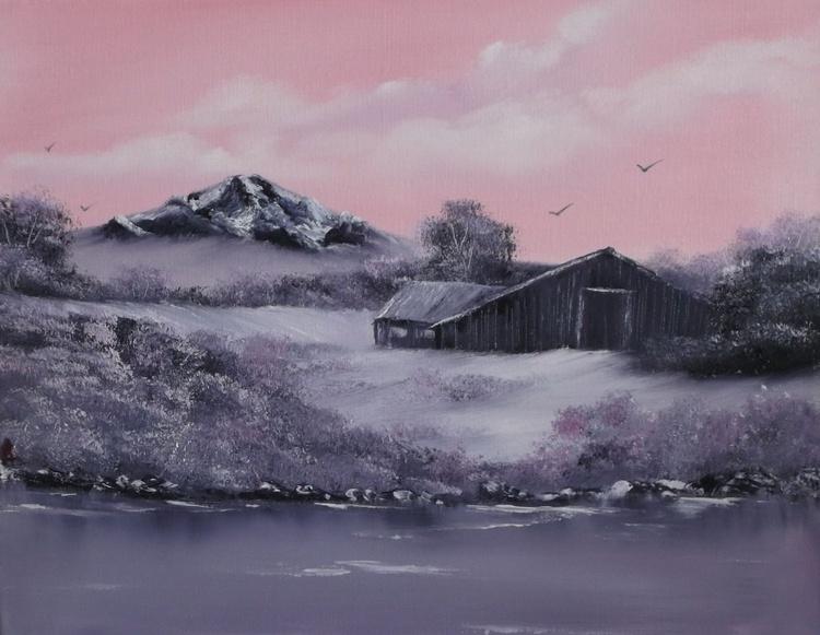 Winter Pastel Snowscene - Image 0