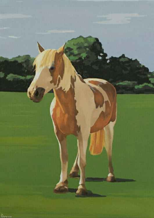 Leo Horse Painting