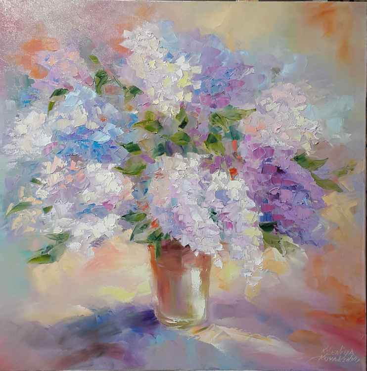 painting*Aromas of lilac lace* * Oil on canvas 70x70 cm -