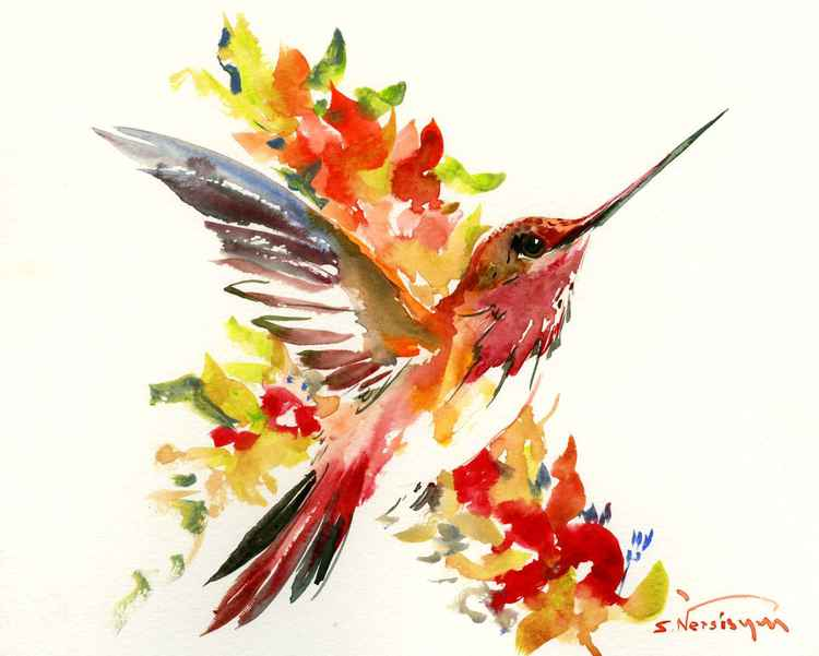 Flying Hummingbird -