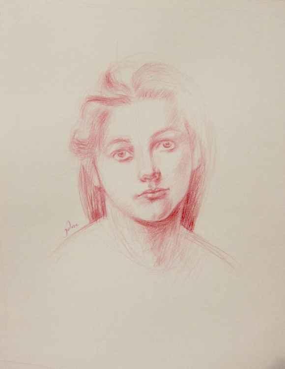 Giovane volto femminile