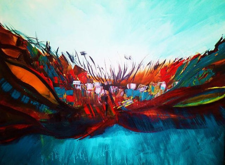 Follow Your Dreams //// art painting // abstract painting // original painting // Large wall art // 28x36 inches - Image 0