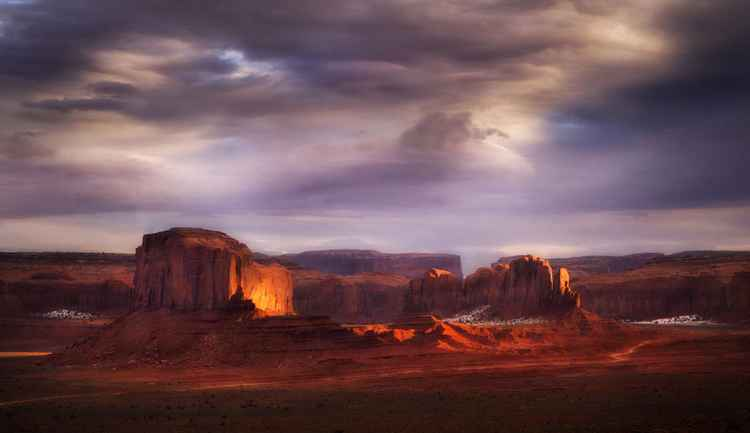 Monument Valley Winter -