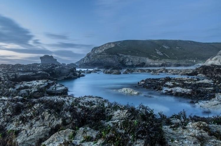 Trevaunance Cove on a dark serene evening - Image 0