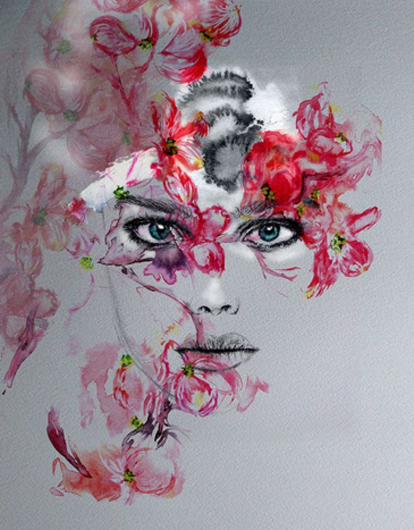 Face in Watercolour - Image 0