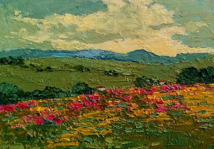 Framed Small Paintings, Living in the wilderness, Landscape - Image 0
