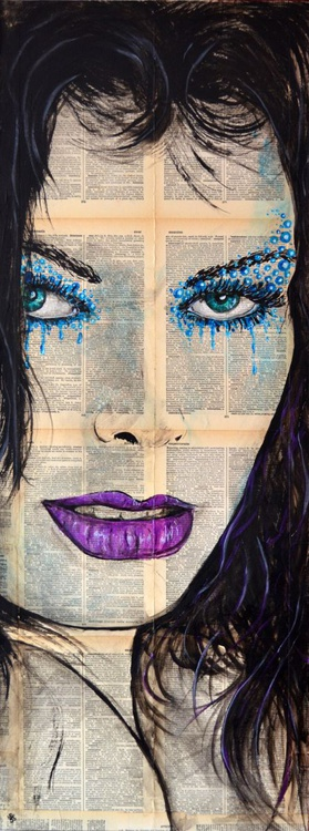 Water - Original Acrylic Painting on Decoupage Deep Canvas Ready To Hang - Image 0