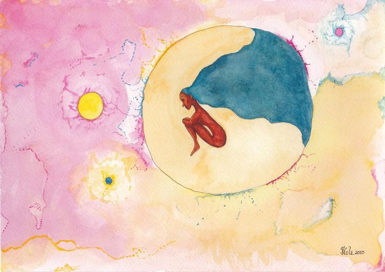 Rebirth Original Watercolour Painting - Image 0