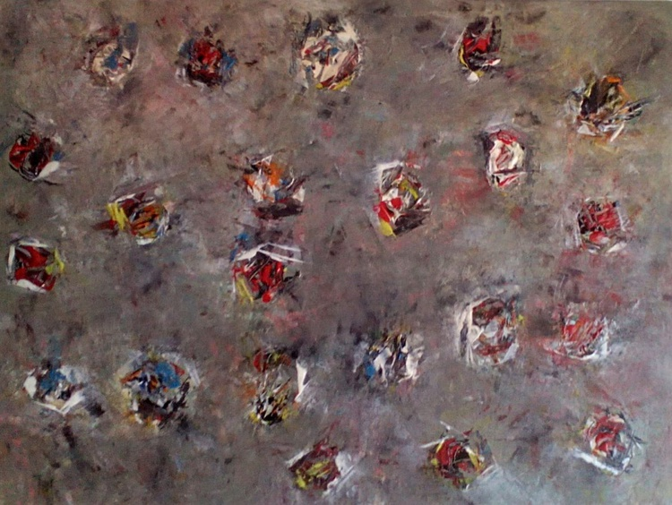 FATA MORGANA original abstract painting 30x40 cm Acrylic paint on canvas board. - Image 0