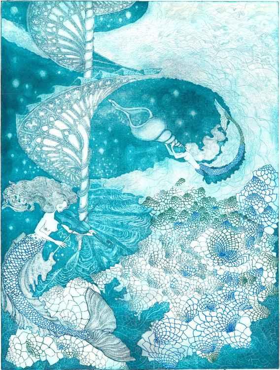 Celestial Sea Spirals -