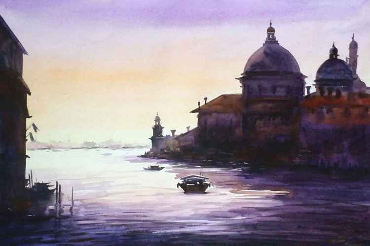 Venice Early Morning - Watercolor Painting -