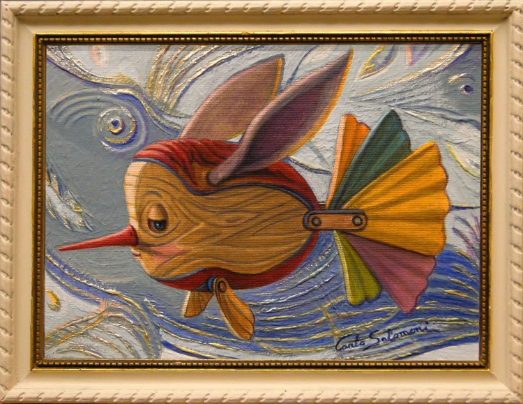 PINOCCHIO FISH AND THE WHALE -(framed) - Image 0