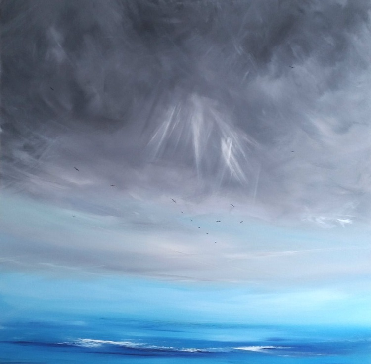 Fly with Me - XL, Seascape, Modern Art Office Decor Home - Image 0