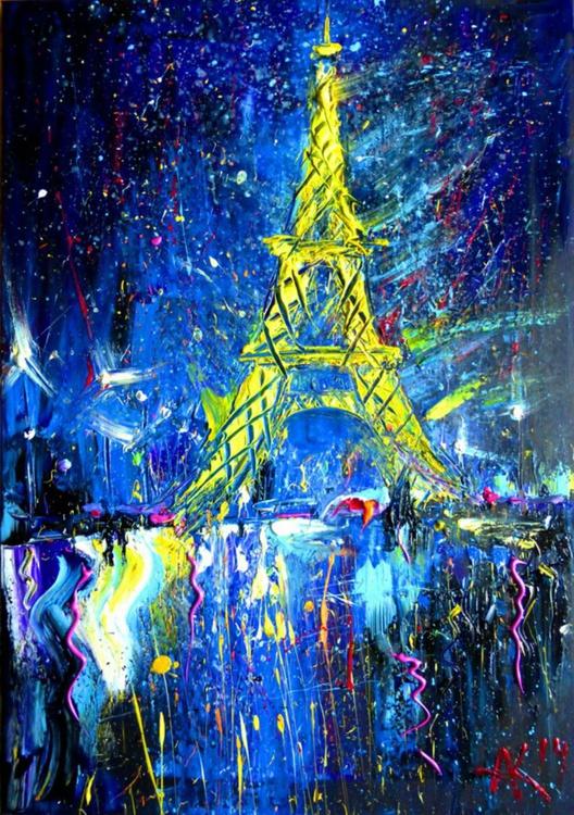 Eiffel Tower at night, 70x100 cm - Image 0