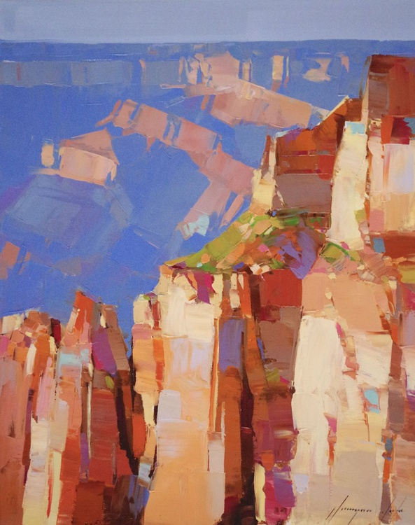 Grand Canyon-South Rim, Landscape oil painting, One of a kind, Signed, Hand Painted - Image 0