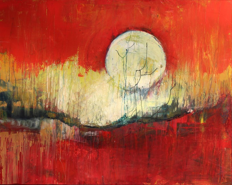 In the red shadows the moon sleeps - Image 0
