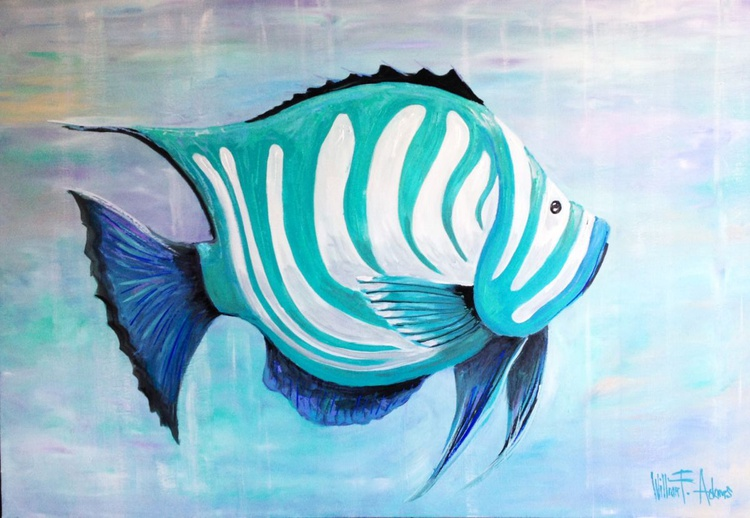 Turquosie Sea Life -  Abstract - Image 0