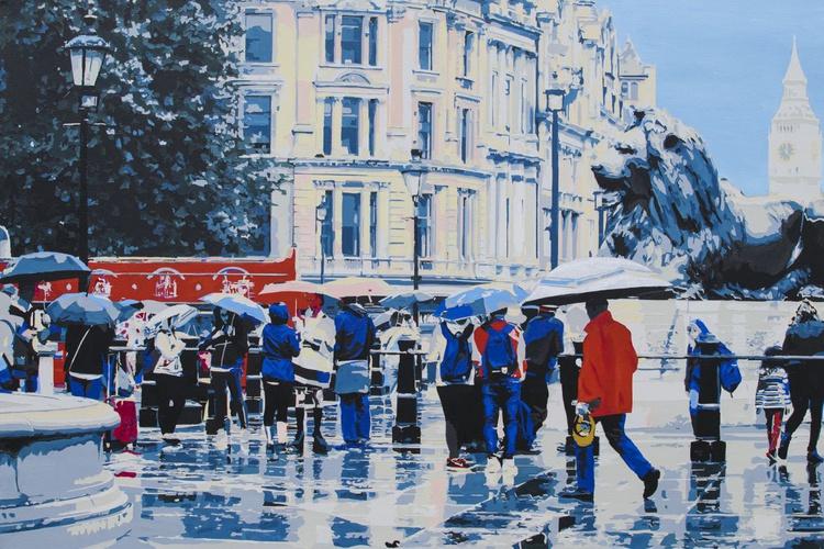 Trafalgar in the rain - Image 0