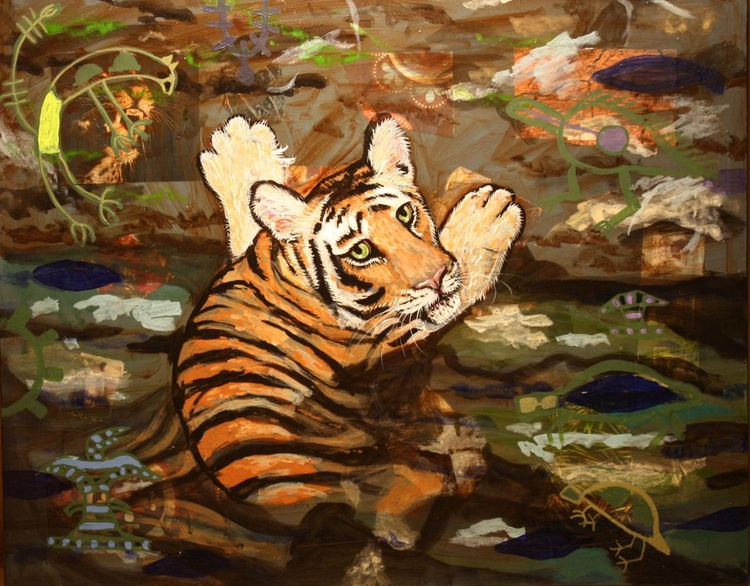 Endangered Tiger in the Water - Image 0