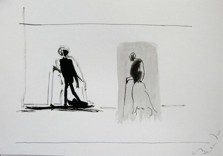 Elderly passers-by 4, 21x29 cm - Image 0