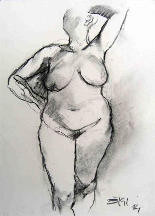 Woman stanging pose