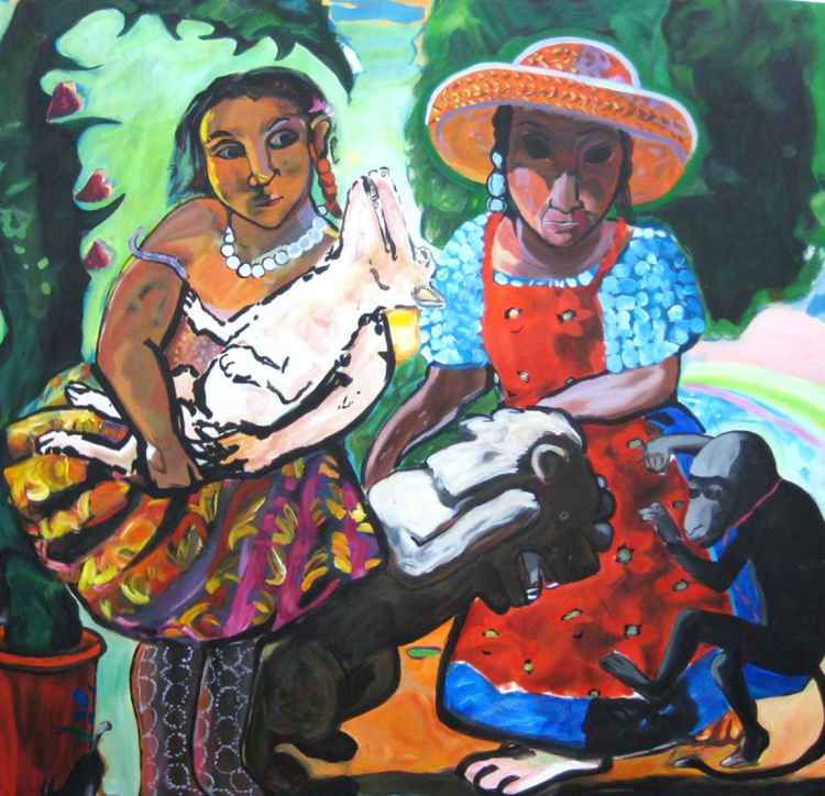 Reproduction: Paula Rego's In the Garden 150x150cm -