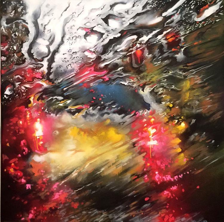 'Lightwaves' - Original acrylic on canvas - Image 0