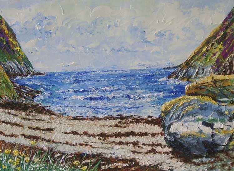 Fleshwick Bay and Rock - Isle of Man