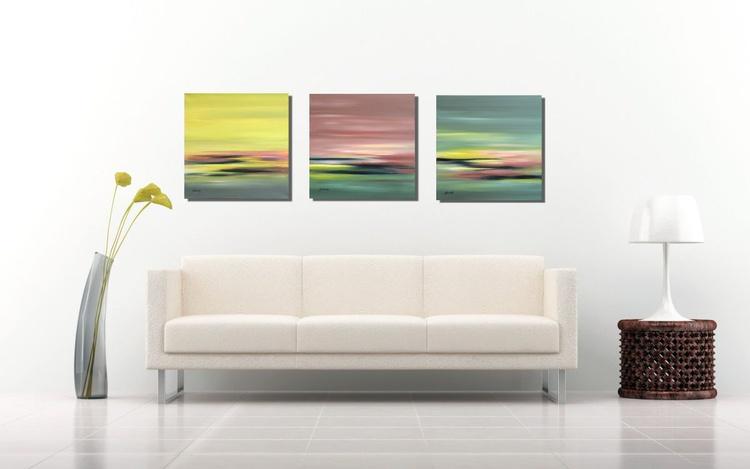 Soft Tones Triptych - 3 x 40 x 40 cm - Image 0